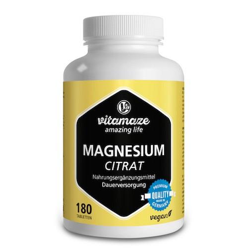 MAGNESIUM CITRAT 250 mg Vitamaze Tabletten, 180 ST, Vitamaze GmbH