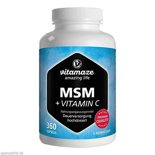 MSM hochdosiert + Vitamin C, 360 ST, Vitamaze GmbH