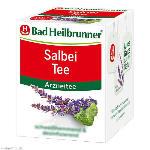 Bad Heilbrunner Salbei Tee, 8X1.6 G, Bad Heilbrunner Naturheilmittel GmbH & Co. KG