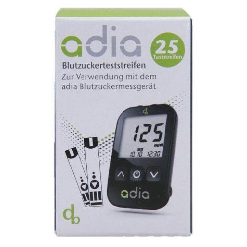 adia Blutzuckerteststreifen, 25 ST, Diabetikerbedarf Db GmbH