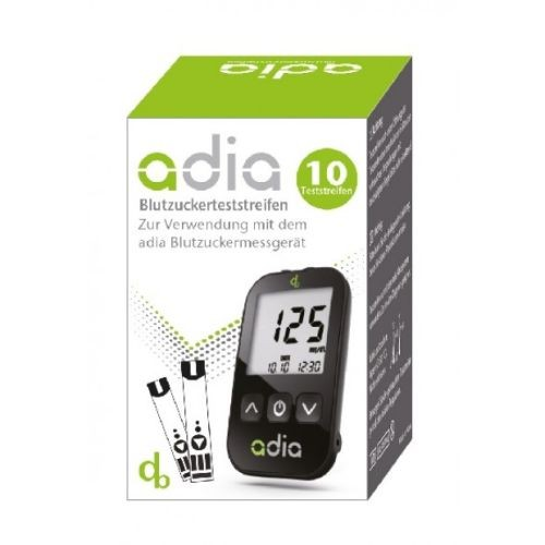 adia Blutzuckerteststreifen, 10 ST, Diabetikerbedarf Db GmbH