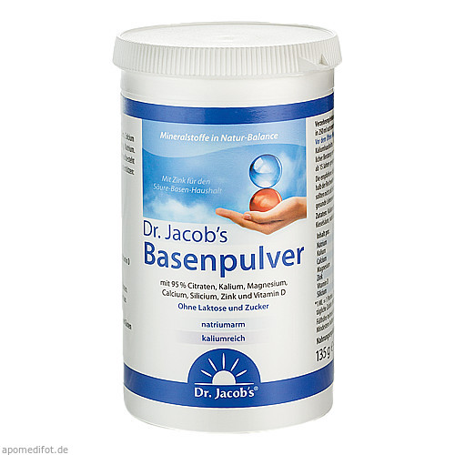 Basenpulver Dr. Jacob's, 135 G, Dr.Jacobs Medical GmbH