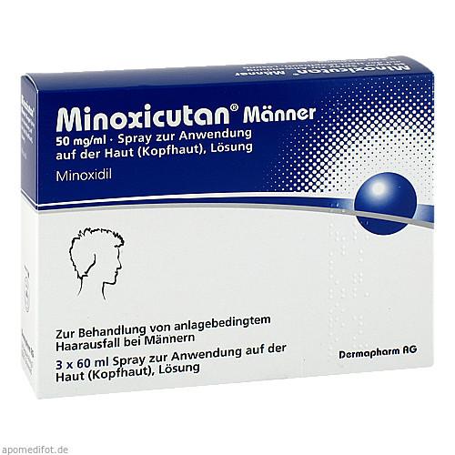 Minoxicutan Männer 50mg/ml Spray, 3X60 ML, Dermapharm AG