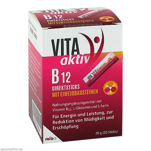 VITA aktiv B 12 Direktsticks mit Eiweißbausteinen, 20 ST, Mibe GmbH Arzneimittel