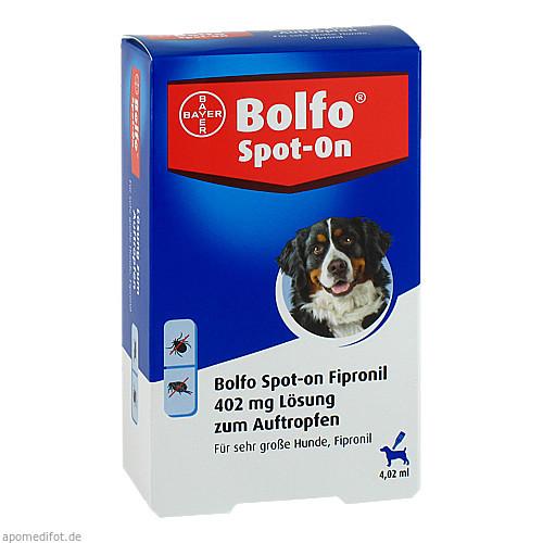BOLFO Spot-On Fipronil 402 mg Lsg.f.sehr gro.Hunde, 3 ST, Bayer Vital GmbH GB - Tiergesundheit