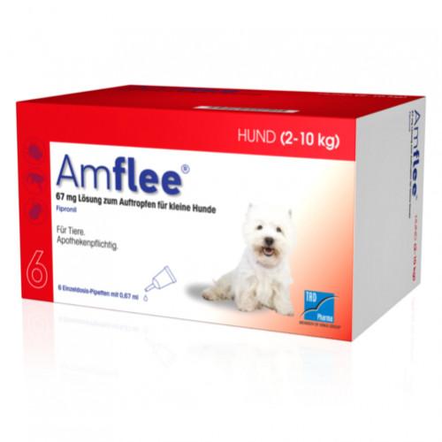AMFLEE 67 mg Spot-on Lsg.f.kleine Hunde 2-10kg, 6 ST, TAD Pharma GmbH