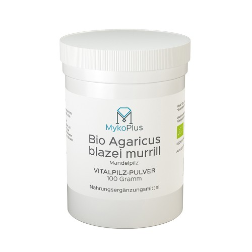 MykoPlus Bio Agaricus Vitalpilz-Pulver, 100 G, MykoGroup UG (haftungsbeschränkt)