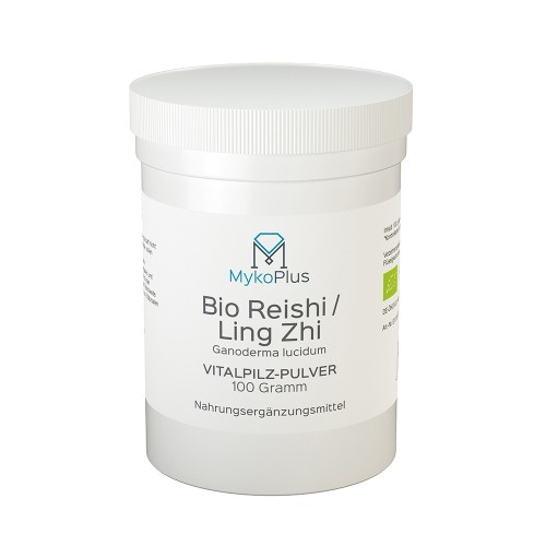 MykoPlus Bio Reishi / Ling Zhi Vitalpilz-Pulver, 100 G, MykoGroup UG (haftungsbeschränkt)