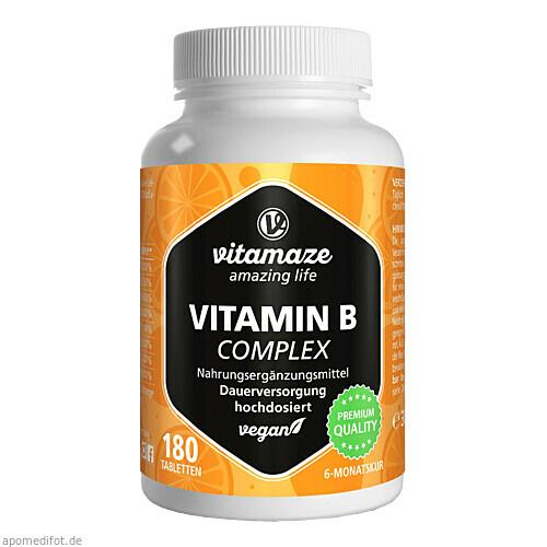 Vitamin B-Complex hochdosiert Vitamaze, 180 ST, Vitamaze GmbH