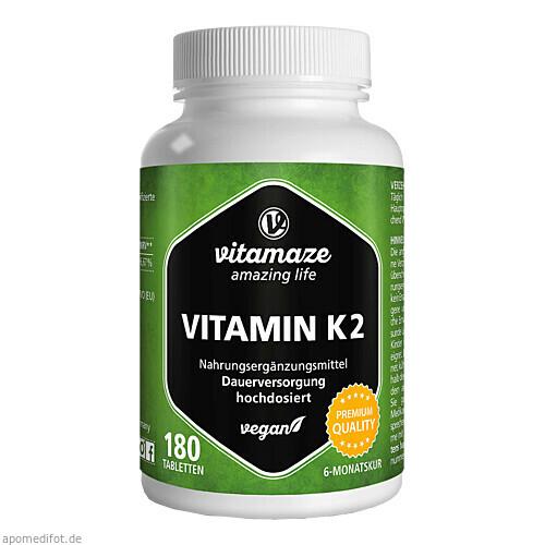Vitamin K2 200 ug hochdosiert, 180 ST, Vitamaze GmbH