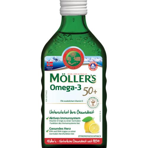Möllers Omega-3 für 50plus Zitronengeschmack, 250 ML, doletra GmbH