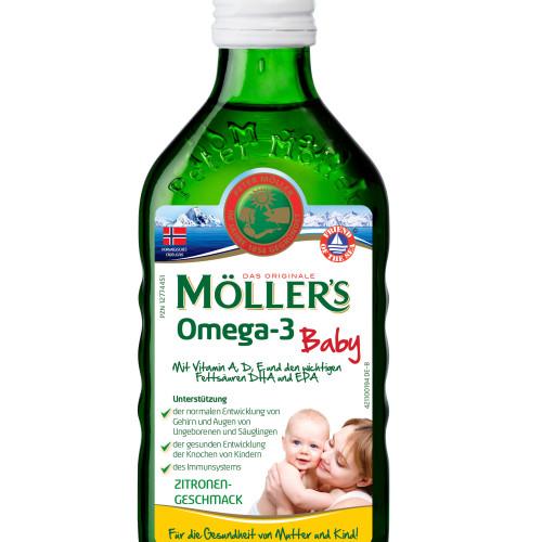 MÖLLERS Omega-3 Baby Zitronengeschmack, 250 ML, doletra GmbH