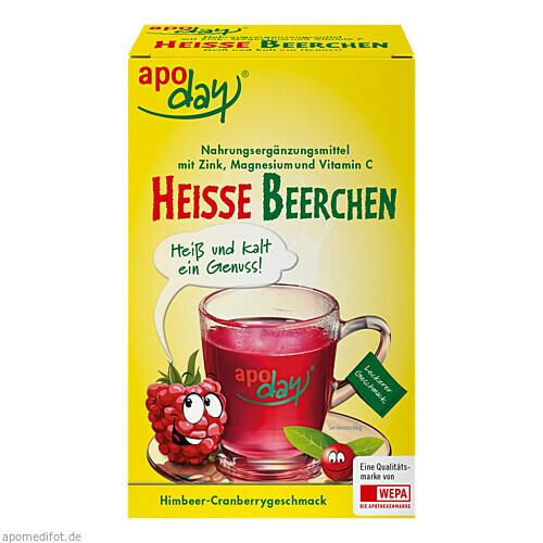 APODAY Heiße Beerchen+Vit.C+Zink+Magnesium Pulver, 10X10 G, WEPA Apothekenbedarf GmbH & Co KG