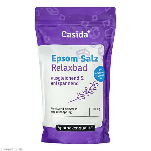 Epsom Salz Relaxbad mit Lavendel, 1 KG, Casida GmbH & Co. KG