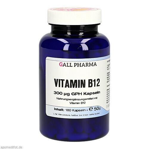 VITAMIN B12 300 ug GPH Kapseln, 180 ST, Hecht-Pharma GmbH
