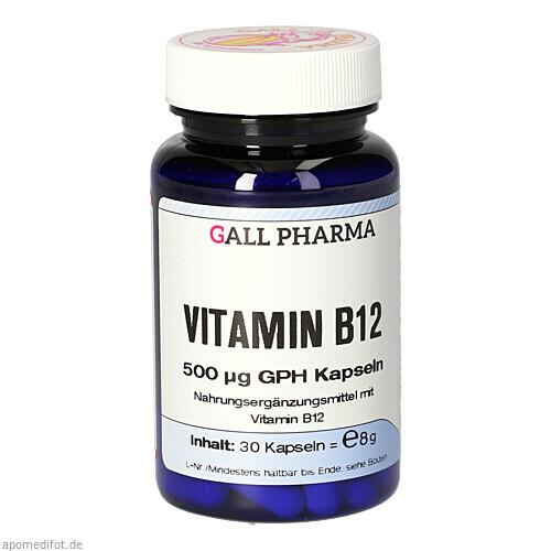VITAMIN B12 500 ug GPH Kapseln, 30 ST, Hecht-Pharma GmbH