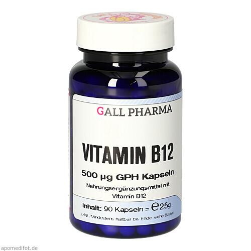 VITAMIN B12 500 ug GPH Kapseln, 90 ST, Hecht-Pharma GmbH