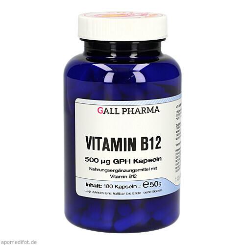 VITAMIN B12 500 ug GPH Kapseln, 180 ST, Hecht-Pharma GmbH