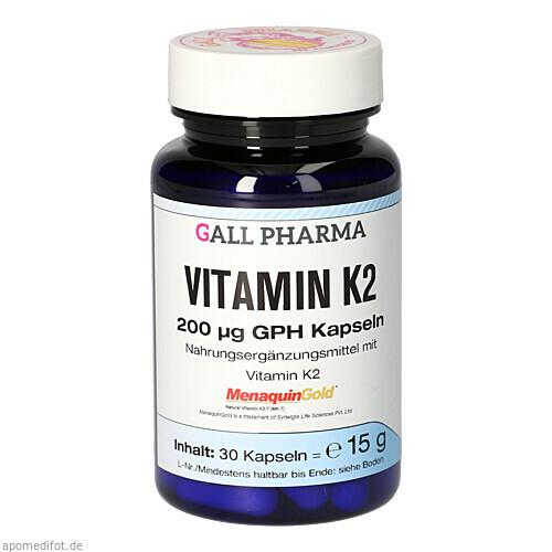 VITAMIN K2 200 ug GPH Kapseln, 30 ST, Hecht-Pharma GmbH