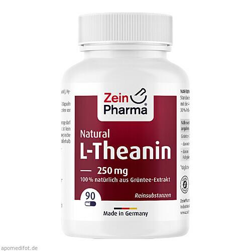 L-Theanin Natural 250 mg - 90 Kapseln ZeinPharma, 90 ST, Zein Pharma - Germany GmbH