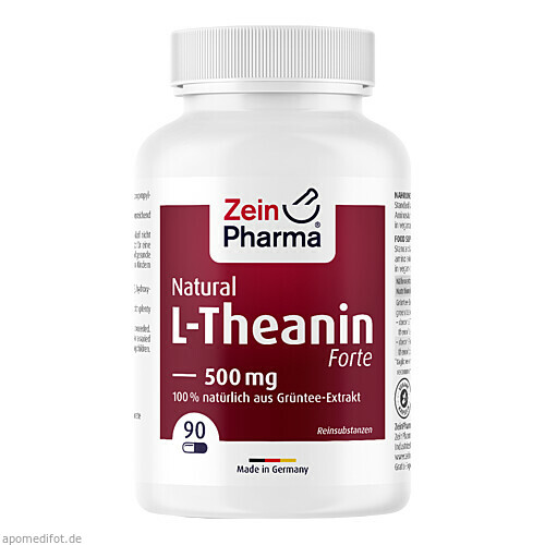 L-Theanin Natural Forte 500 mg ZeinPharma, 90 ST, Zein Pharma - Germany GmbH
