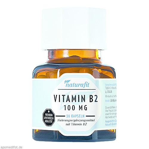 Naturafit Vitamin B2 100mg, 30 ST, Naturafit GmbH