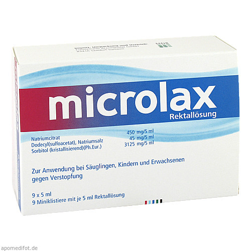 Microlax Rektallösung Klistiere, 9X5 ML, Eurimpharm Arzneimittel GmbH