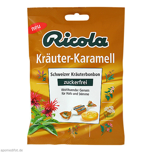 Ricola oZ Kräuter Karamell, 75 G, MCM KLOSTERFRAU Vertr. GmbH