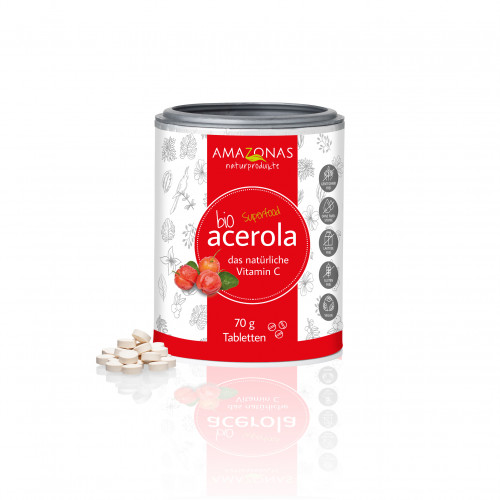 Acerola 100% Bio natuerliches Vit. C, 70 G, Amazonas Naturprodukte Handels GmbH