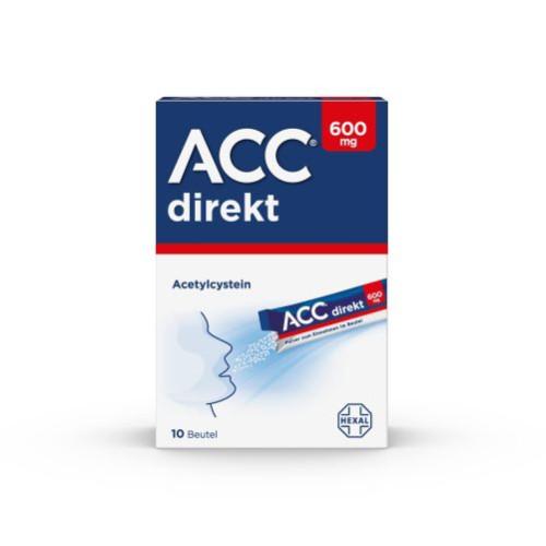 ACC direkt 600 mg Pulver zum Einnehmen im Beutel, 10 ST, HEXAL AG