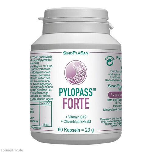 Pylopass FORTE 200 mg +Vit B12 +Olivenblattextrakt, 60 ST, Sinoplasan AG