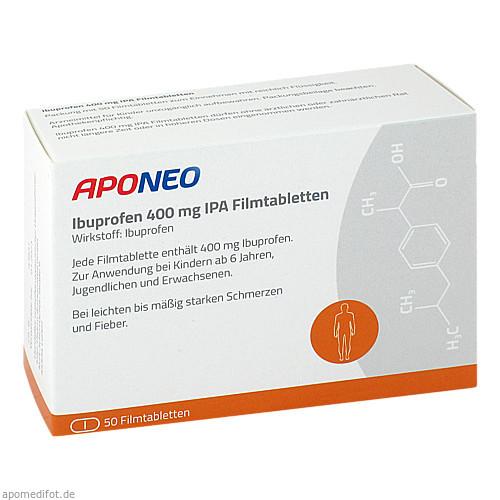 Ibuprofen 400 mg IPA/ APONEO, 50 ST, Inter Pharm Arzneimittel GmbH