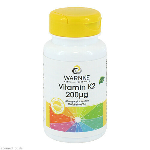 Vitamin K2 200ug, 100 ST, Warnke Vitalstoffe GmbH