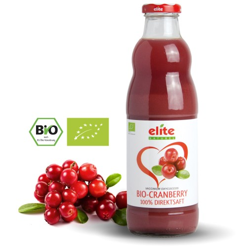 Cranberry 100% BIO Direktsaft elite Naturel, 700 ML, Axisis GmbH
