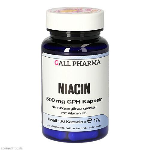 NIACIN 500MG GPH KAPSELN, 30 ST, Hecht-Pharma GmbH