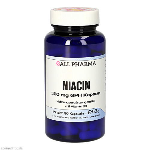 NIACIN 500MG GPH KAPSELN, 90 ST, Hecht-Pharma GmbH