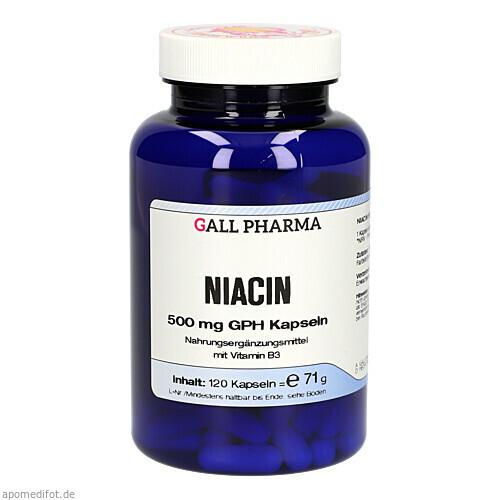 NIACIN 500MG GPH KAPSELN, 120 ST, Hecht-Pharma GmbH