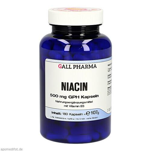 NIACIN 500MG GPH KAPSELN, 180 ST, Hecht-Pharma GmbH