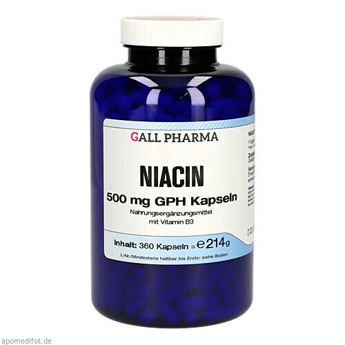 NIACIN 500MG GPH KAPSELN, 360 ST, Hecht-Pharma GmbH