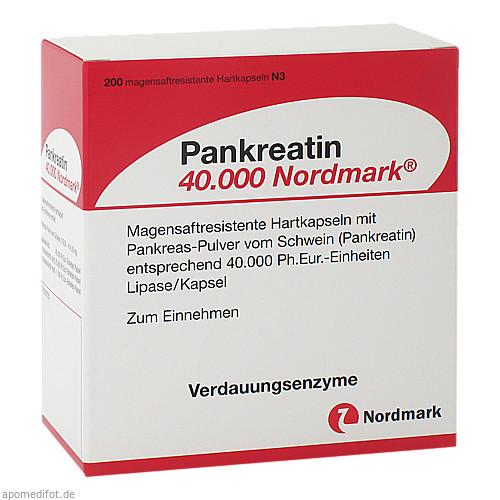 Pankreatin 40.000 Nordmark, 200 ST, Nordmark Arzneimittel GmbH & Co. KG