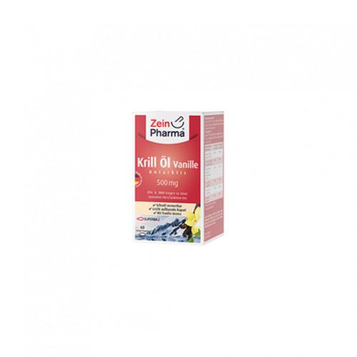 Krill Öl - Antarktis 500 mg Vanille, 60 ST, Zein Pharma - Germany GmbH