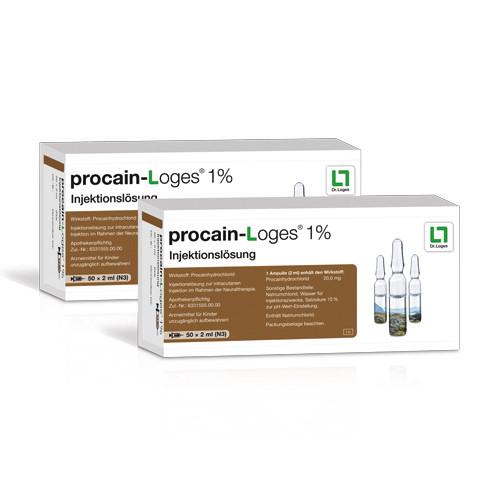 procain-Loges 1% Injektionslösung, 100X2 ML, Dr. Loges + Co. GmbH