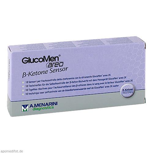 GlucoMen areo 2K B-Ketone Sensor, 10 ST, Berlin-Chemie AG