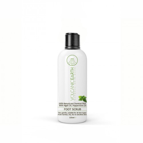 VolcanicEarth Foot Scrub with Peppermint, 135 ML, Essential Projects B.V.