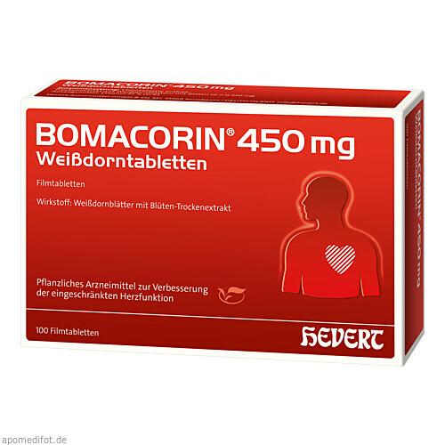 Bomacorin 450 mg Weißdorntabletten, 100 ST, Hevert Arzneimittel GmbH & Co. KG