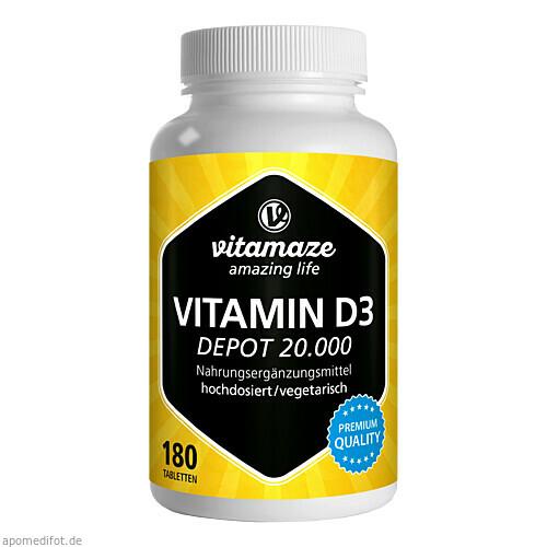 Vitamin D3 20.000IE Depot hochdosiert, 180 ST, Vitamaze GmbH