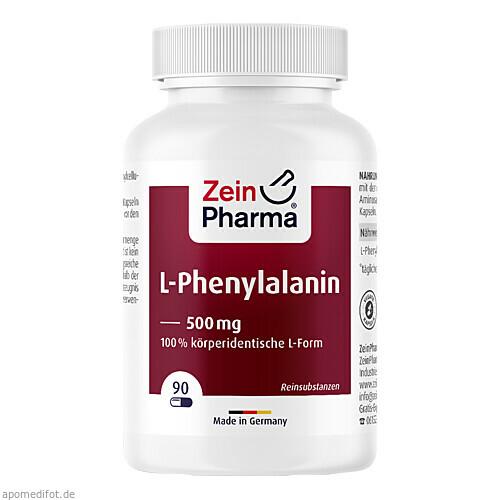 L-Phenylalanin 500 mg veg. HPMC Kaps. Zein Pharma, 90 ST, Zein Pharma - Germany GmbH