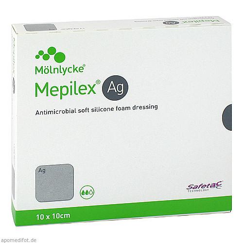 MEPILEX AG 10x10 cm Schaumverband, 5 ST, + Prisoma GmbH