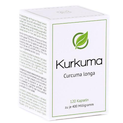 Kurkuma (Curcuma longa) 400 mg, 120 ST, Lutor Trading & Distribution Limited