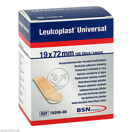 Leukoplast Universal Strips wasserabw. 19 x 72mm, 100 ST, Bsn Medical GmbH